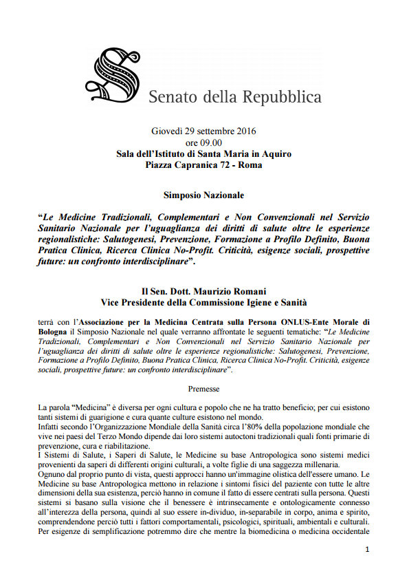 Senato della repubblica simposio nazionale onlus 29 for Senato della repubblica