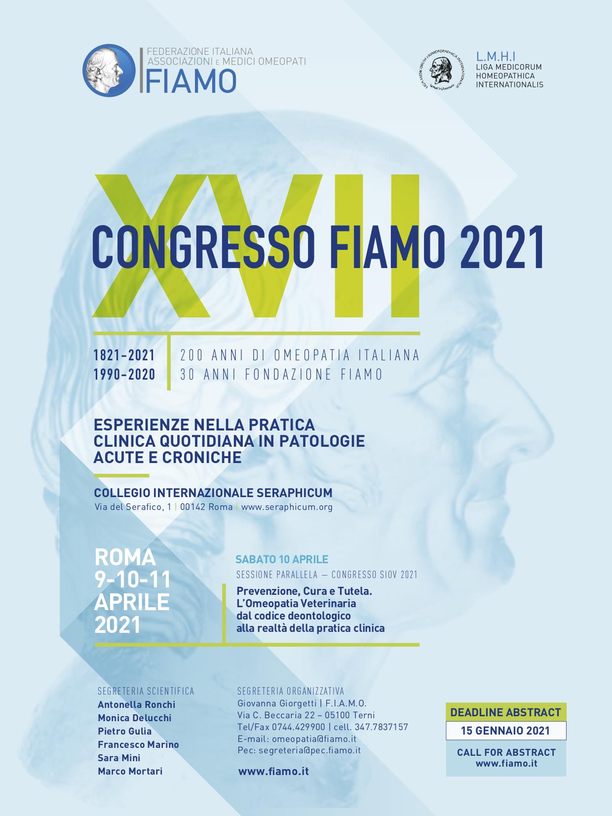 XVII Congresso Nazionale FIAMO 2021